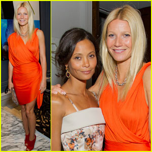 Gwyneth Paltrow: Coach Dinner with Thandie Newton!