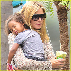 Heidi Klum: Karate Kids in Brentwood