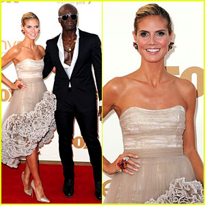 Heidi Klum & Seal - Emmys 2011 Red Carpet