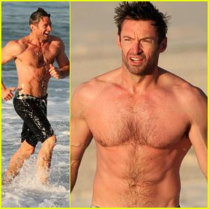 Hugh Jackman: Shirtless Morning Dip!