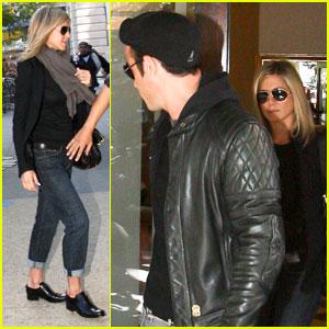 Jennifer Aniston & Justin Theroux Walk in the West Village