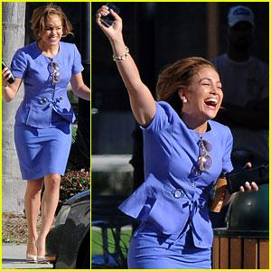 Jennifer Lopez Jumps for Joy!