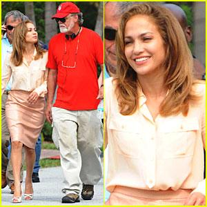 Jennifer Lopez: 'Parker' Set with Taylor Hackford