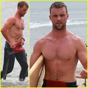Jesse Spencer: Shirtless Malibu Surfer!