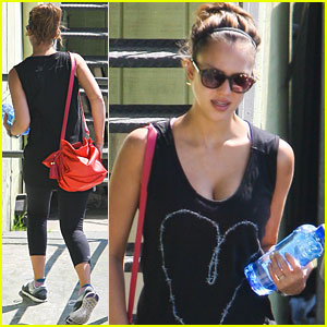 Jessica Alba Works It Out in West Hollywood