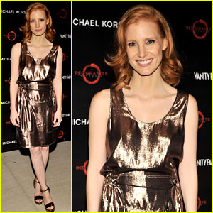 Jessica Chastain Toasts 'Friends with Kids'