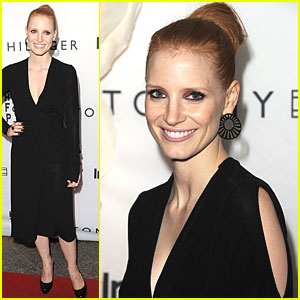 Jessica Chastain: InStyle & HFPA Party!