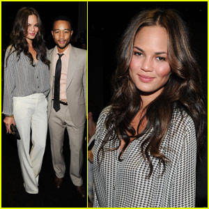 John Legend & Chrissy Teigen: Gucci Fashion Show!