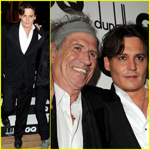 Johnny Depp: GQ Awards with Keith Richards
