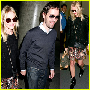 Kate Bosworth & Michael Polish: Smiley Sunday at LAX!