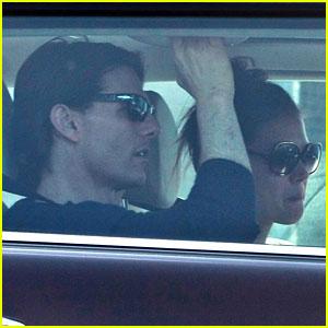 Katie Holmes & Tom Cruise Drive Away