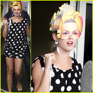 Katy Perry: Carmen Miranda Masks in Rio!