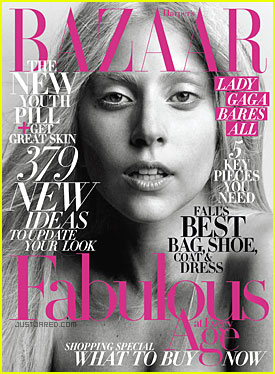 Lady Gaga Covers 'Harper's Bazaar' October 2011