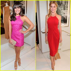 Lea Michele: Michael Kors Luncheon with Julie Bowen!