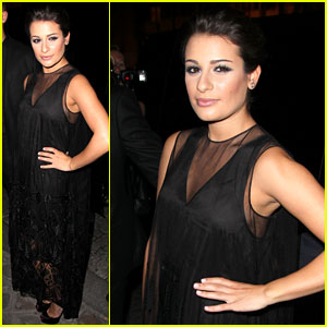 Lea Michele: Hogan After Party Pretty!