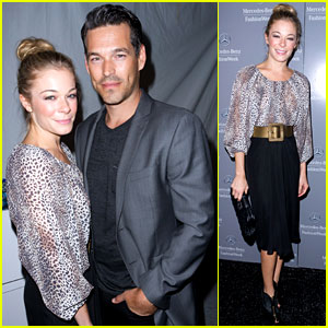 LeAnn Rimes: Monique Lhuillier Show with Eddie Cibrian!