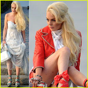 Lindsay Lohan: Philipp Plein Photo Shoot!