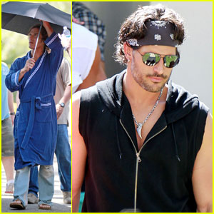 Matthew McConaughey & Joe Manganiello Shoot 'Magic Mike'