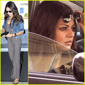 Mila Kunis Leaves LAX Airport