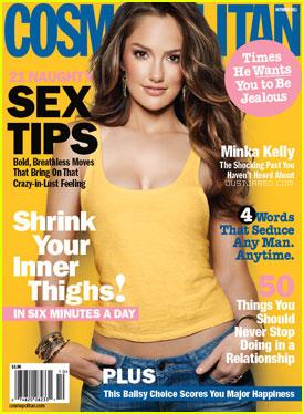 Minka Kelly Covers 'Cosmopolitan' October 2011