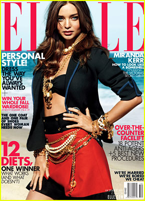 Miranda Kerr Covers 'Elle' October 2011