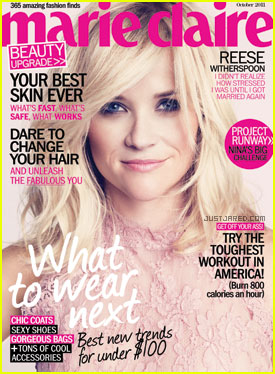 Reese Witherspoon Covers 'Marie Claire' October 2011