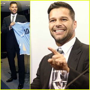 Ricky Martin Meets with Uruguayan President
