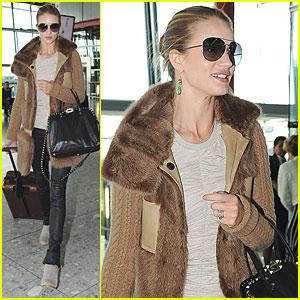 Rosie Huntington-Whiteley: Heathrow Airport Arrival