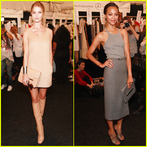 Rosie Huntington-Whiteley & Zoe Saldana: Michael Kors Show!
