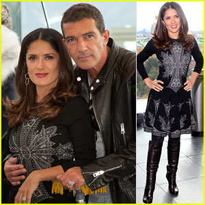 Salma Hayek: 'Puss in Boots' Moscow Premiere with Antonio Banderas!