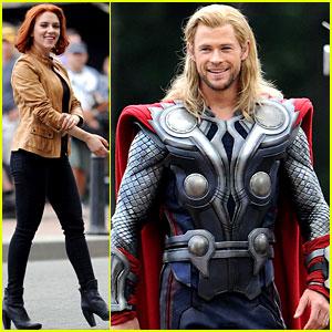 Scarlett Johansson & Chris Hemsworth: 'Avengers' in NYC!