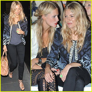 Sienna Miller: Front Row at Matthew Williamson Show