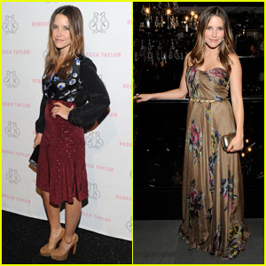 Sophia Bush: Rebecca Taylor Fashion Show!