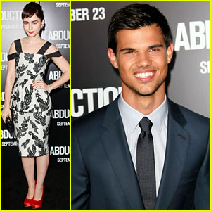 Taylor Lautner & Lily Collins Premiere 'Abduction' in Los Angeles!