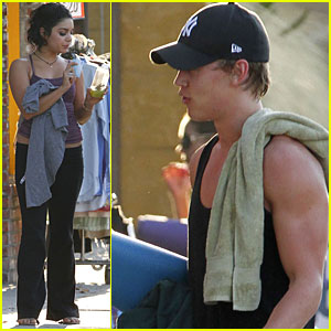 Vanessa Hudgens: Workout with Austin Butler & Ashley Tisdale!
