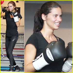 Adriana Lima: Boxing Babe in Miami!