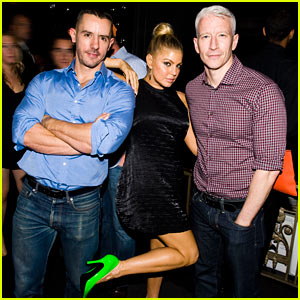 Anderson Cooper & Ben Maisani: BEP Party with Fergie!