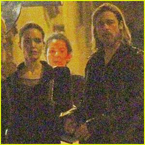 Angelina Jolie & Brad Pitt: Dinner Date in Budapest!