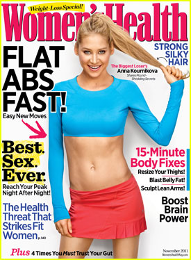 Anna Kournikova Covers 'Women's Health' November 2011
