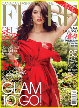 Ashley Greene Covers 'Flare' December 2011