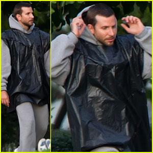 Bradley Cooper Braves the Rain