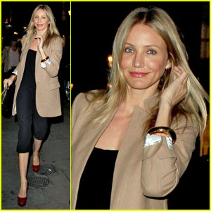 Cameron Diaz Supports Jude Law in 'Anna Christie'