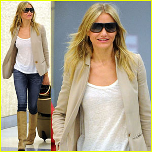 Cameron Diaz: From London to NYC!