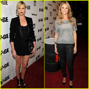 Charlize Theron & Stacy Keibler: Rage Launch Party!