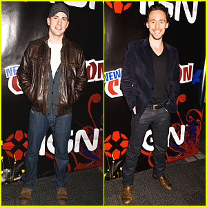 Chris Evans & Tom Hiddleston: 'Avengers' at New York Comic-Con!