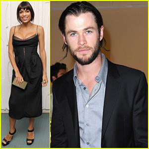 Chris Hemsworth & Rosario Dawson: Calvin Klein Dinner!