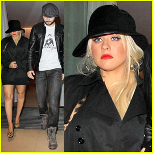 Christina Aguilera: Box Nightclub With Matthew Rutler!
