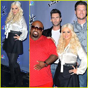 Christina Aguilera: 'The Voice' Season Two Press Junket!