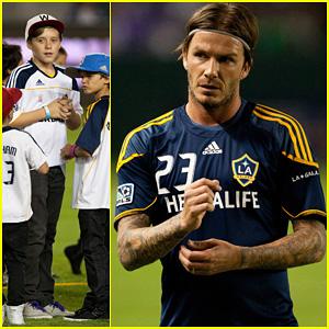 David Beckham: Galaxy Warm Up!