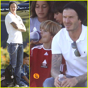 David Beckham: Soccer Dad!